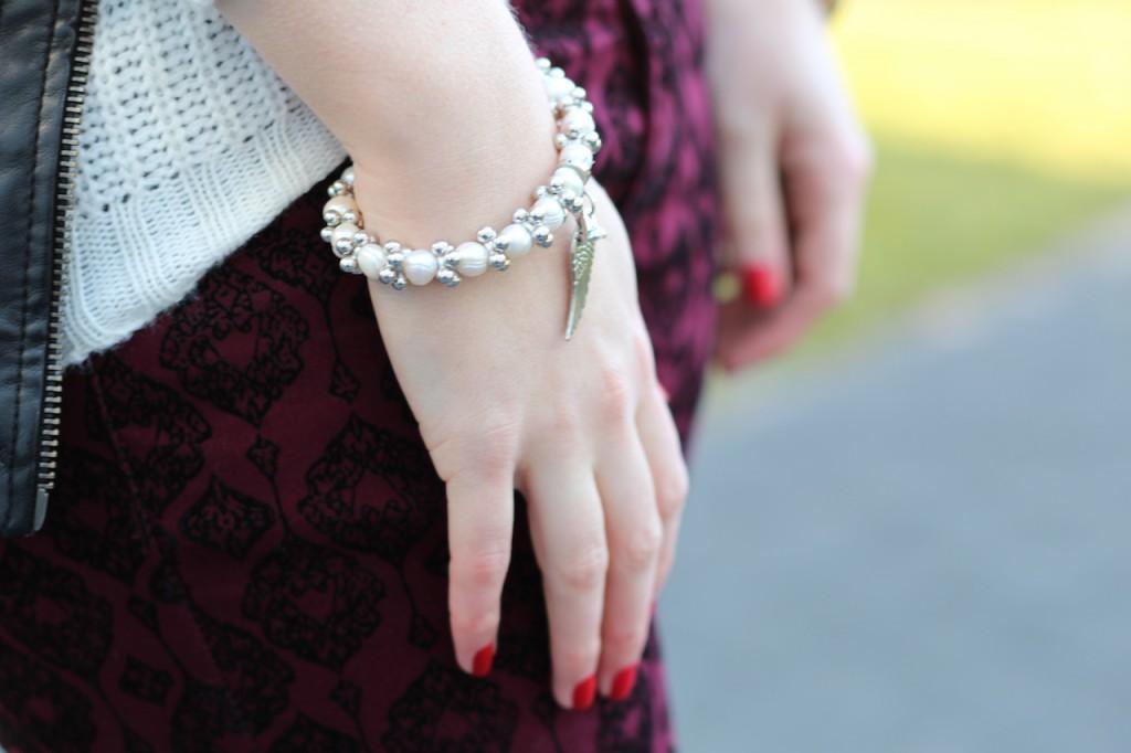Perlenarmband Outfit OOTD Herbstlook Accessoires