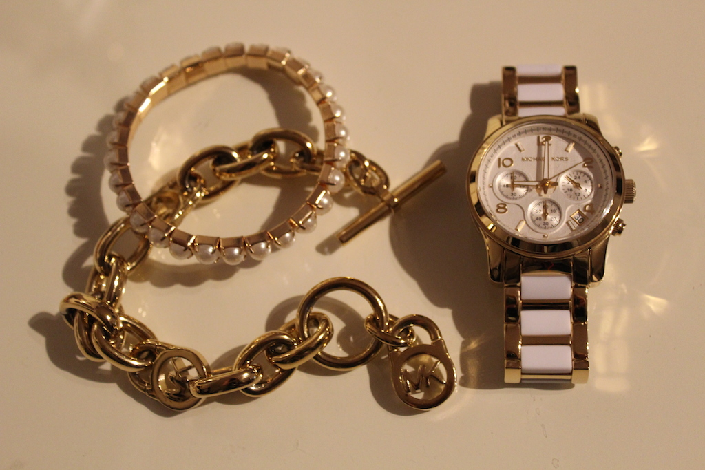 Michael Kors watch and necklace
