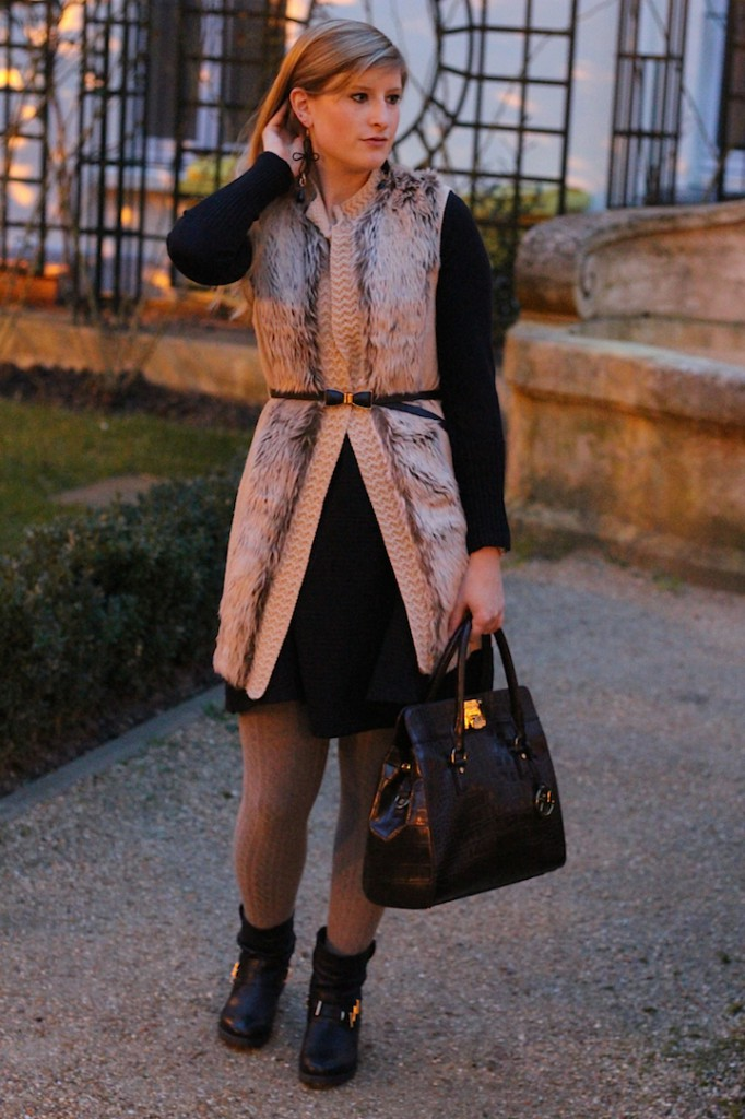 faux fur vest Paris