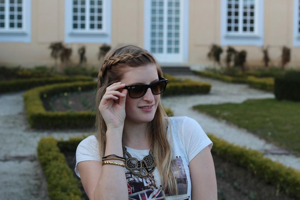 streetstyle Modeblog Deutschland Outfit RayBan Wayfarer Sonnenbrille
