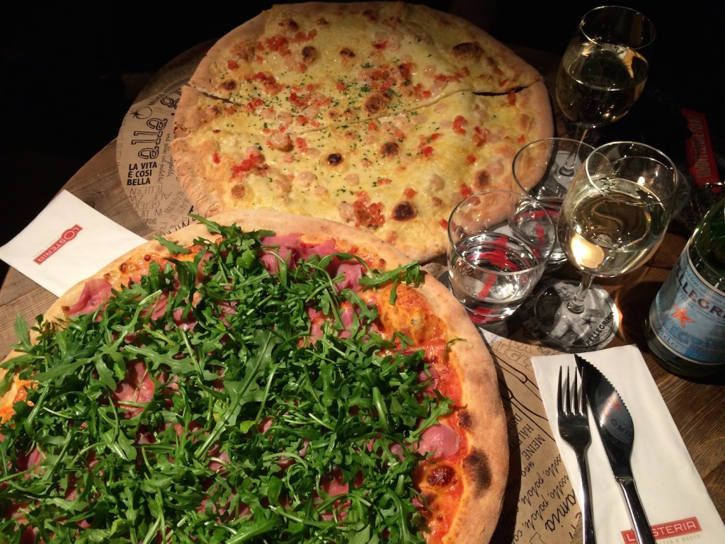 I had one of the biggest pizzas in my life at L'Osteria - but they weren't not only big but also soo delicious <3