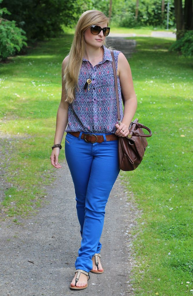 Blue Summer Look Diesel jeans