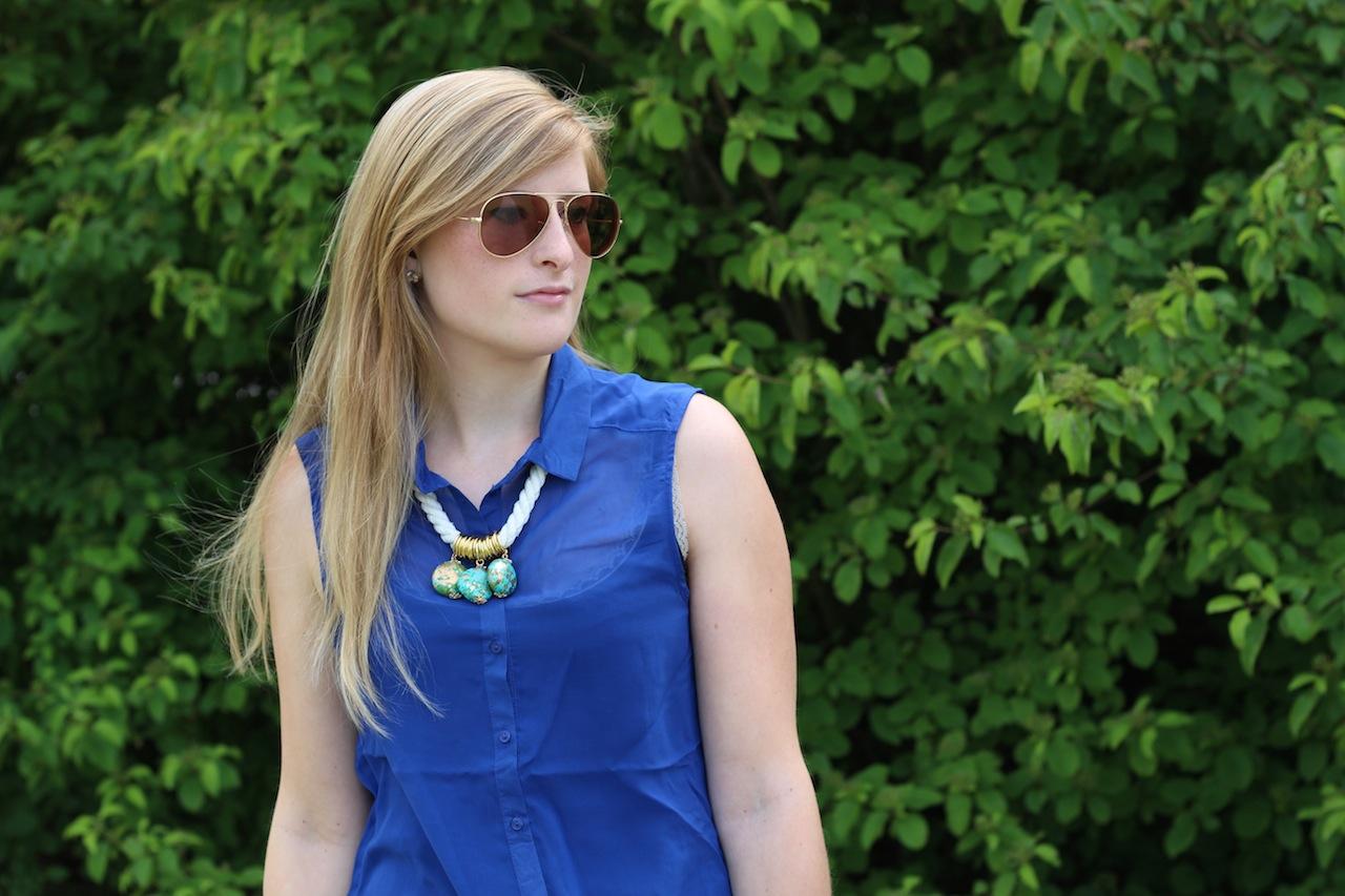 Twiniñas Kette Piloten Sonnenbrille Ray Ban Sommertrend Fashion OOTD