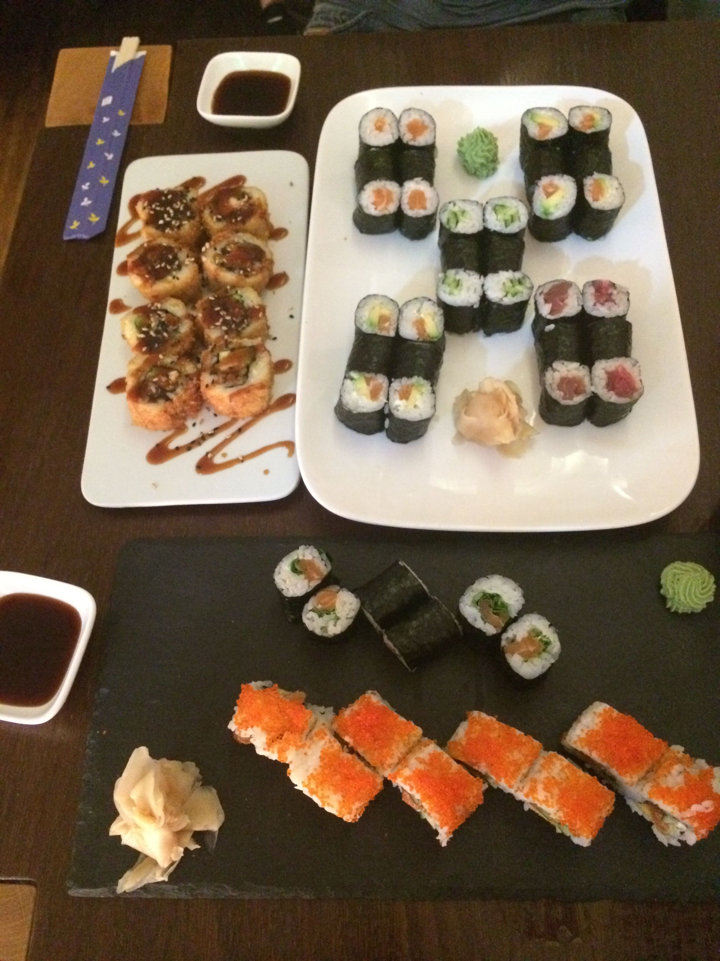 Und hier kommt noch der letzte Part meines Geburtstages - mein Geburtstags-Sushi zu dem mich mein Freund Abends zum Abschluss des Tages eingeladen hat :)