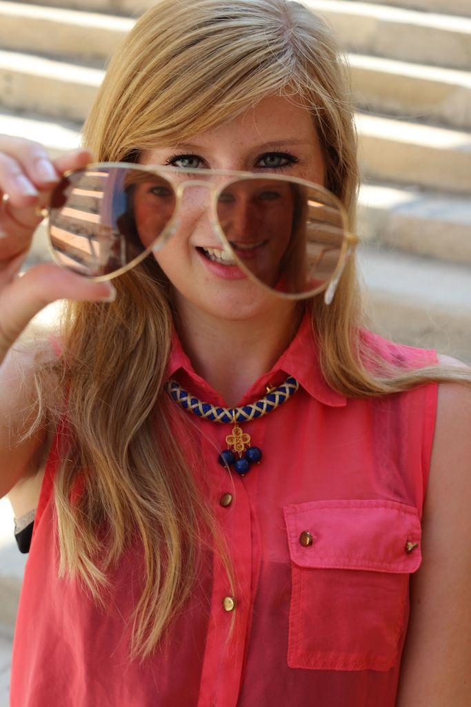 Sonnenbrille Ray Ban Pilotenbrille Details Blog OOTD Marseille Urlaubsoutfit lange Haare