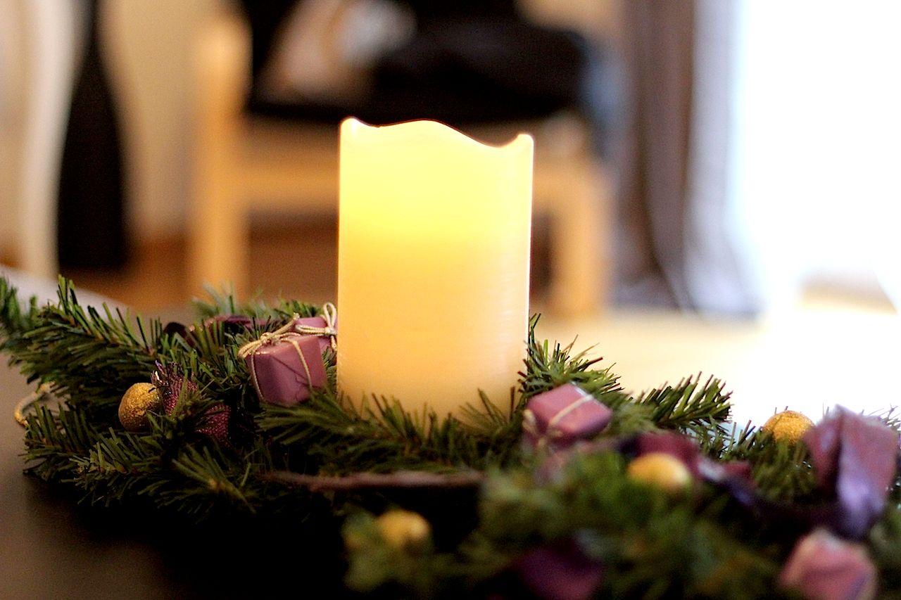 Weihnachtsdeko Kerze Kranz