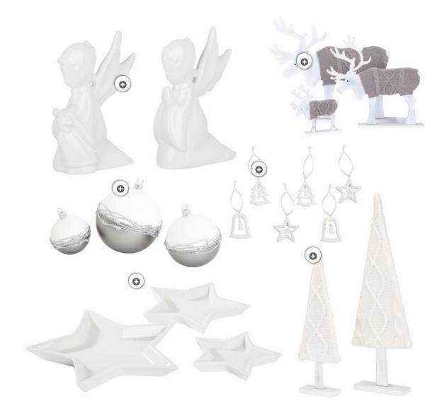 Weihnachtsdeko Weiß All White Inspiration Interior Shopping richtig dekorieren