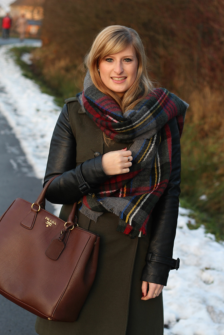 5 Winteroutfit Mantel Wintermantel braune Prada Tasche Winterlook