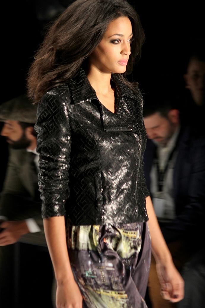8 Anja Gockel Fashion Week Berlin Runway 2015 Lederjacke