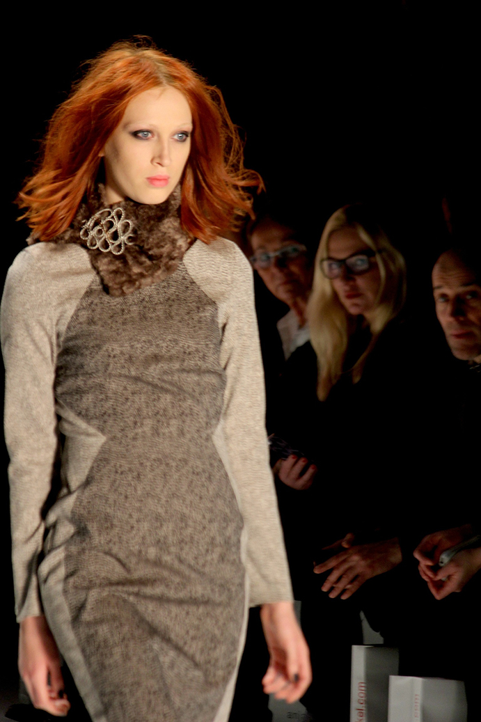 92 Anja Gockel Fashion Week Berlin Show 2015 Herbst Kleid