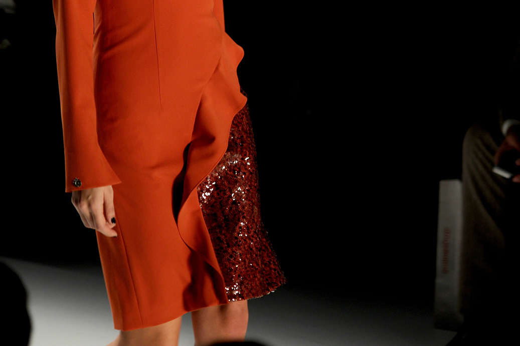 96 Anja Gockel Fashion Week Berlin Show 2015 Detals Kleid