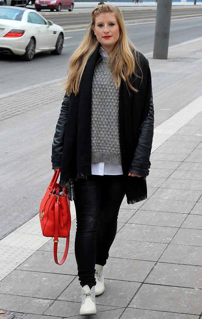 3 Streetstyle Layering pullover bluse Tessamino Schuhe Modeblog