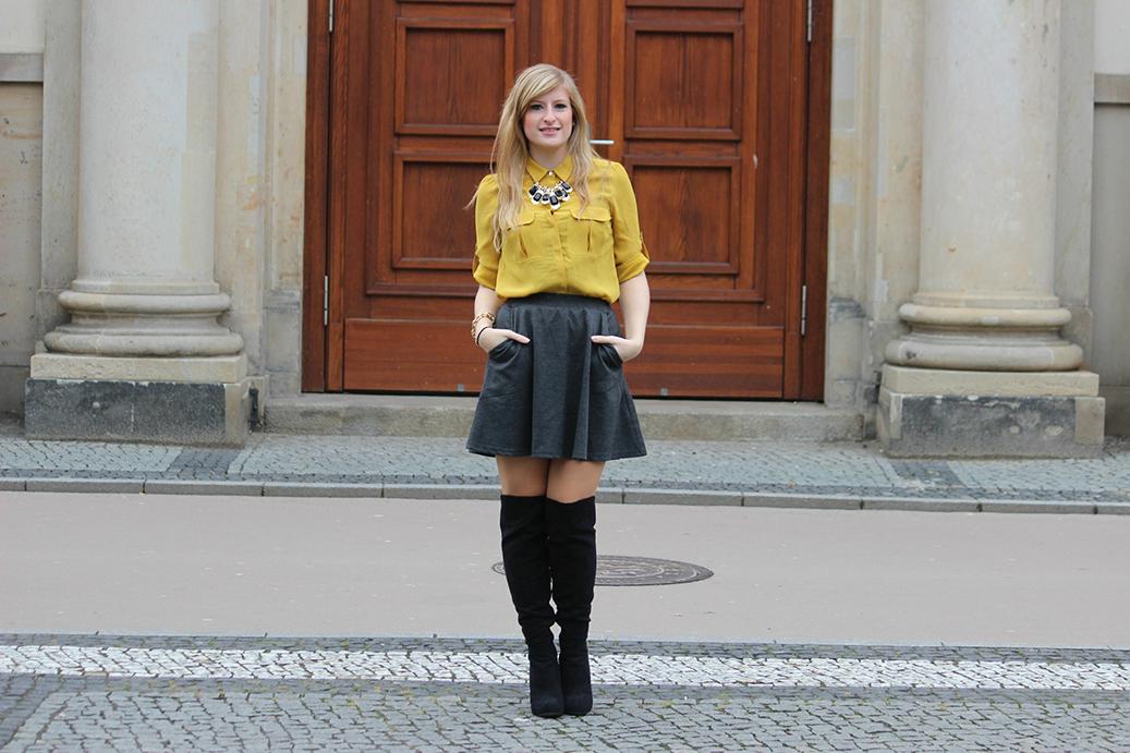 5 Outfit Overknees Fashion Week Streetstyle Modeblog DE Overknee Stiefel kombinieren