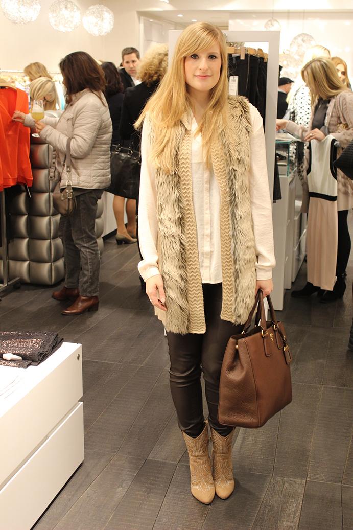 6 Marc Cain Shop Event Köln Modeblog Outfit Fellveste