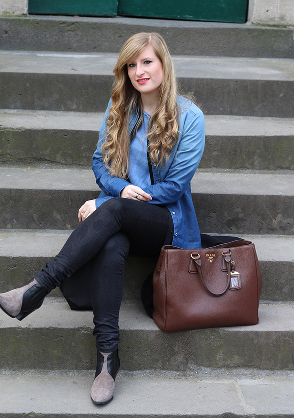 1 Denim on Denim New Look Prada Modeblog Jeans mit Jeans kombinieren Outfit