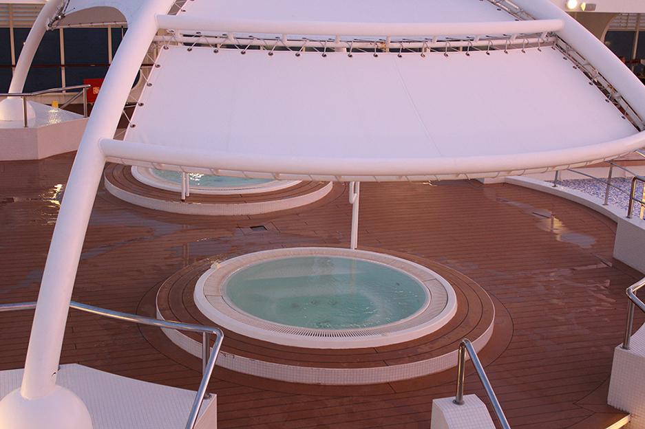 8 MSC Kreuzfahrt Mittelmeer Erfahrungen Whirlpool Deck