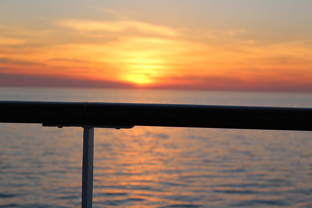 94 MSC Kreuzfahrt Mittelmeer Sonnenuntergang sundown wunderschön