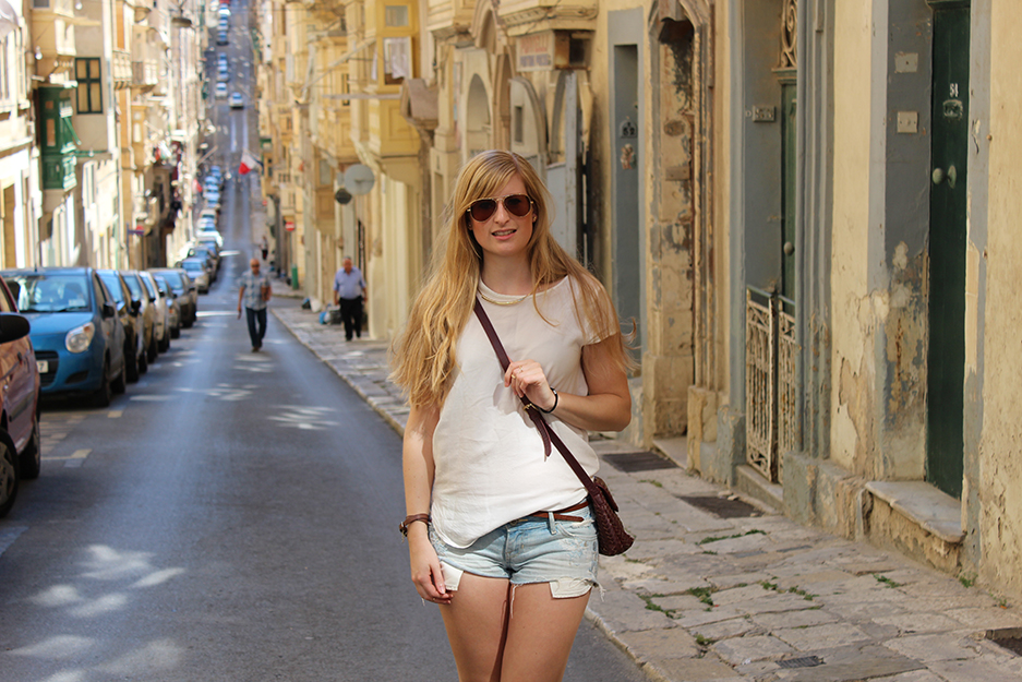 Kreuzfahrt Mittelmeer La Valetta Malta Streetstyle
