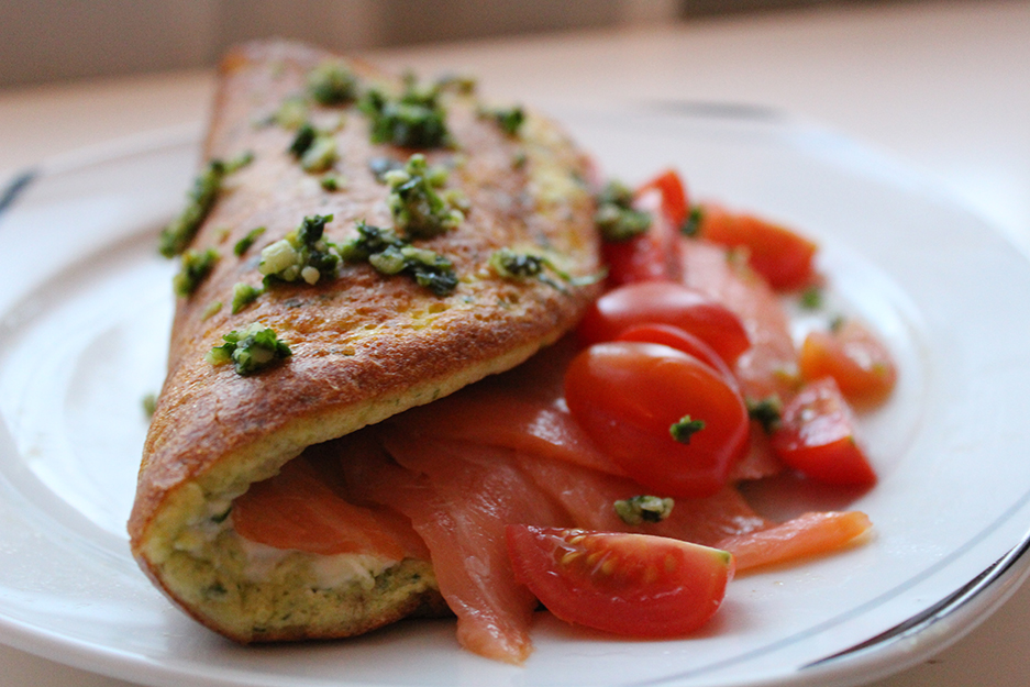 angerichtetes_Bärlauch-Omelette