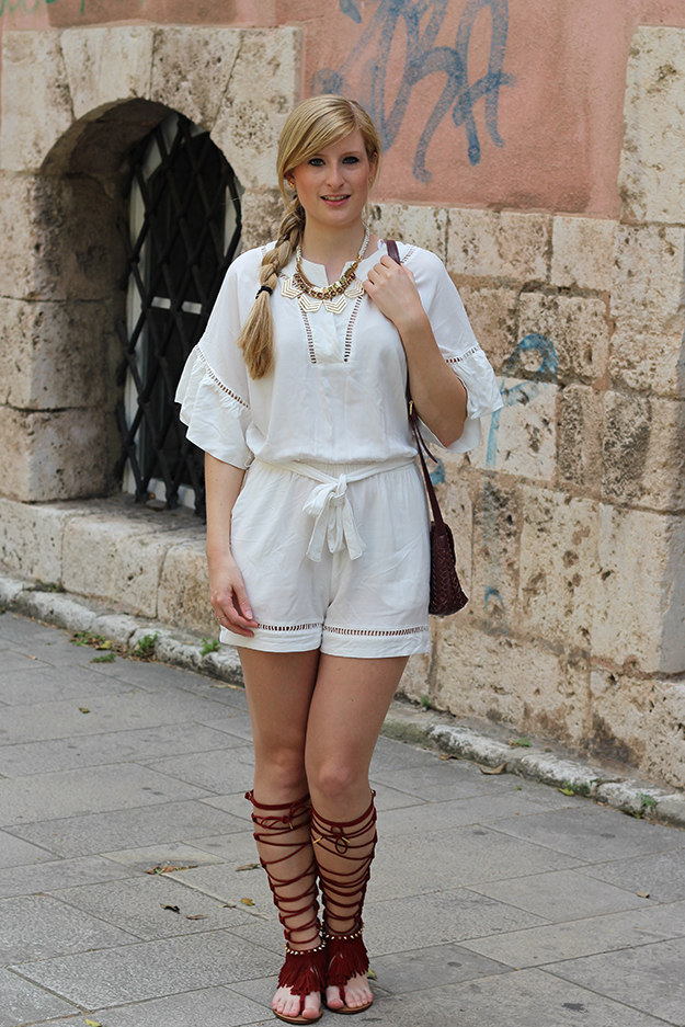 1 Gladiator Sandalen Tunika Jumpsuit Messina
