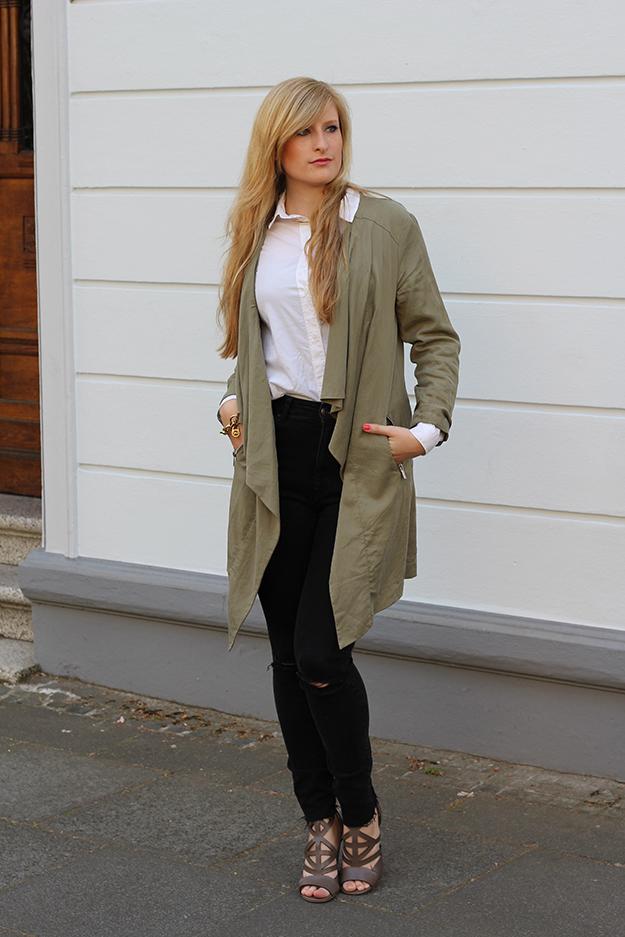 1 Sommerschuhe ootd Modeblog Köln High Waist Zara Hose