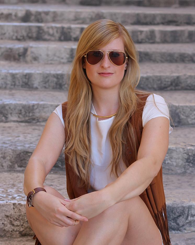 5  Festival Look ootd Fransen Weste streetstyle Malta