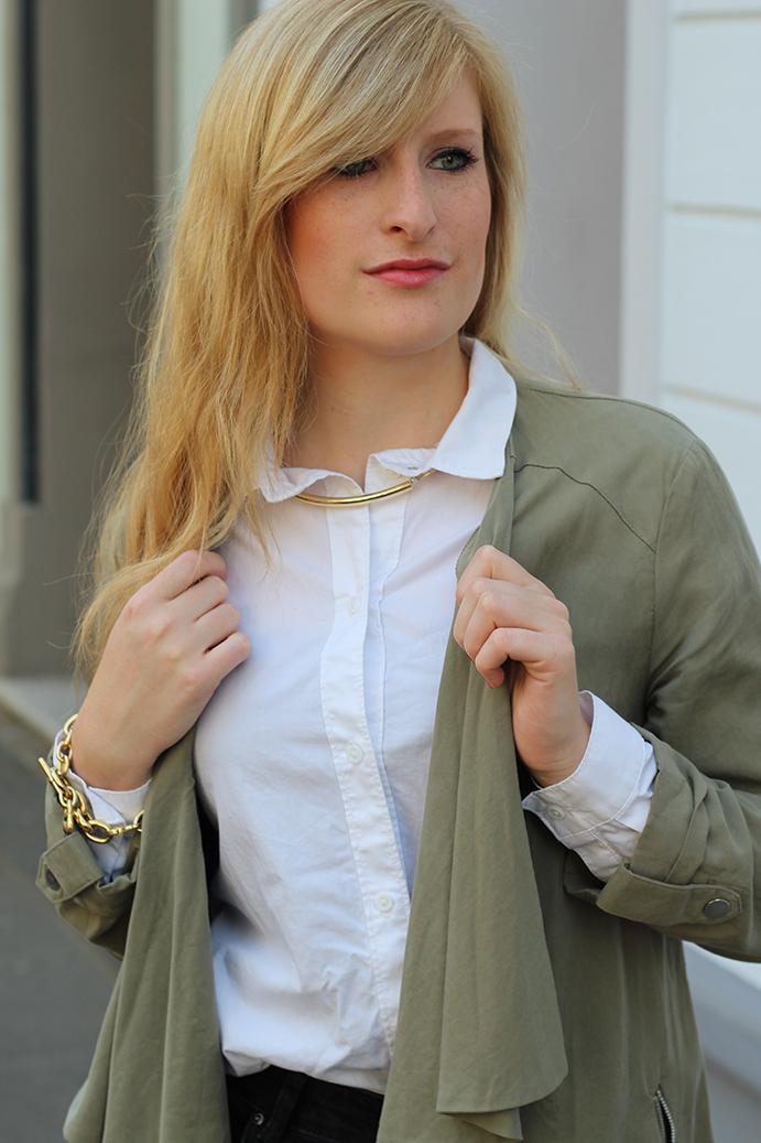 5 weiße Bluse ootd Fahionblog Köln High Waist Zara Hose