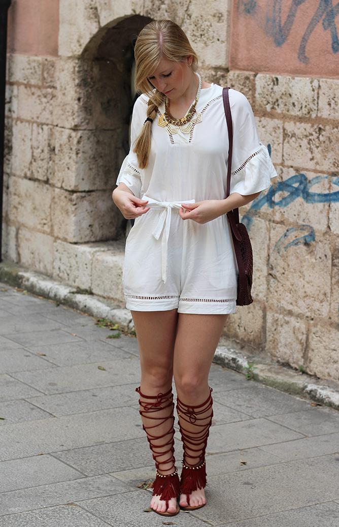 5 weiße Tunika Jumpsuit H&M Modeblog Köln