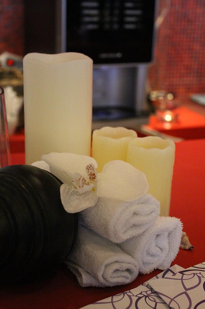 95 Radisson Blu Frankfurt Wellnessbereich Entspannung Kerzen