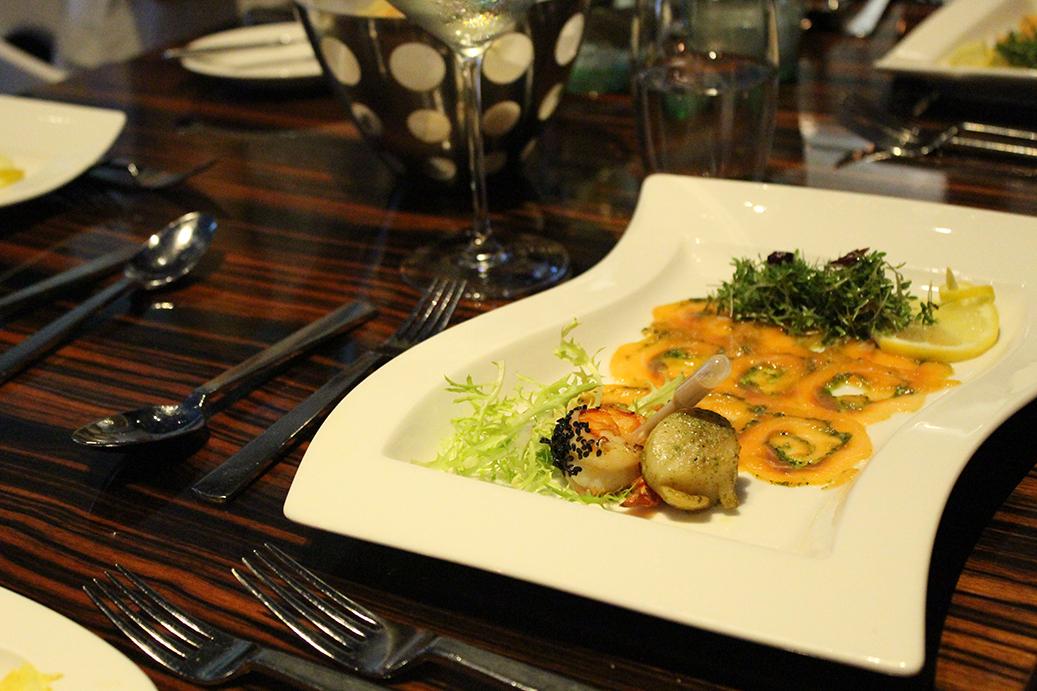 991 Vorspeise Lachs Carpaccio Blogger Dinner Frankfurt