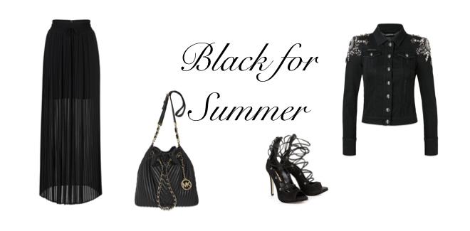 Shopping Schwarz für den Sommer | Sommertrends