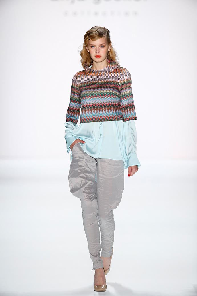 Anja Gockel Fashionshow Amelia Fashion Week Juli 2015 Hose