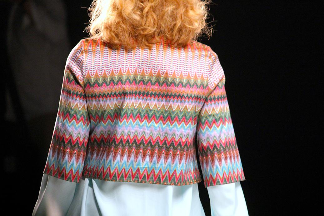 Anja Gockel Fashionshow Amelia Fashion Week Juli 2015 Printjacke 07