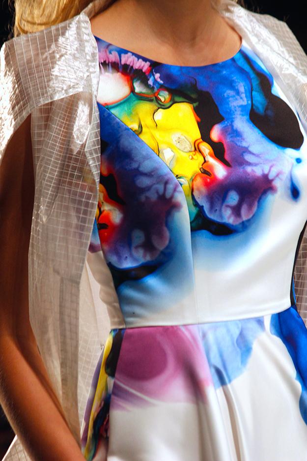 Anja Gockel Fashionshow Amelia Fashion Week Juli 2015 Printkleid Details 04