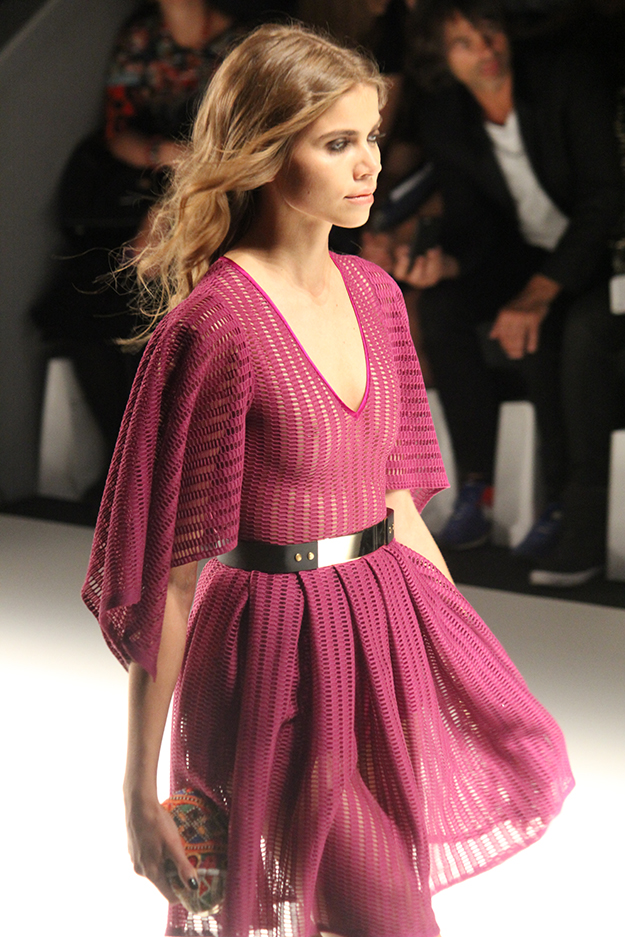 Dimitri Fashionshow Fashion Week Juli 2015 rosa transparentes Kleid 07
