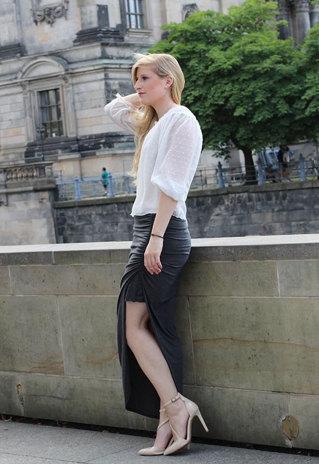 Outfit Fashion Week Berlin Streetstyle langer Rock Tunika Shirt 1