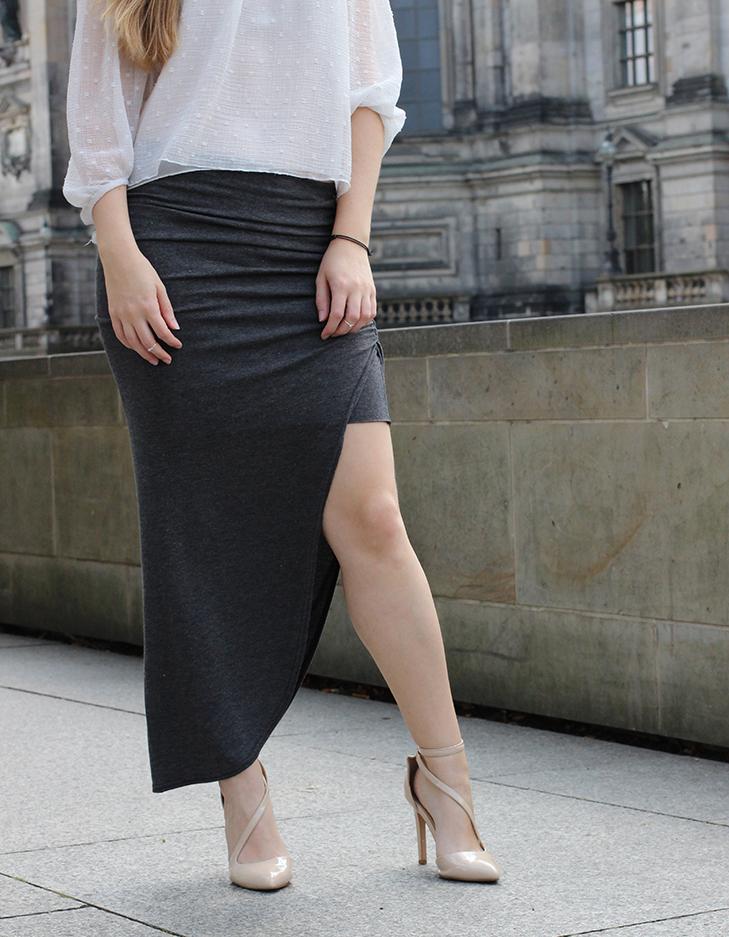 Outfit Fashion Week Berlin Streetstyle langer Rock Tunika Shirt 9
