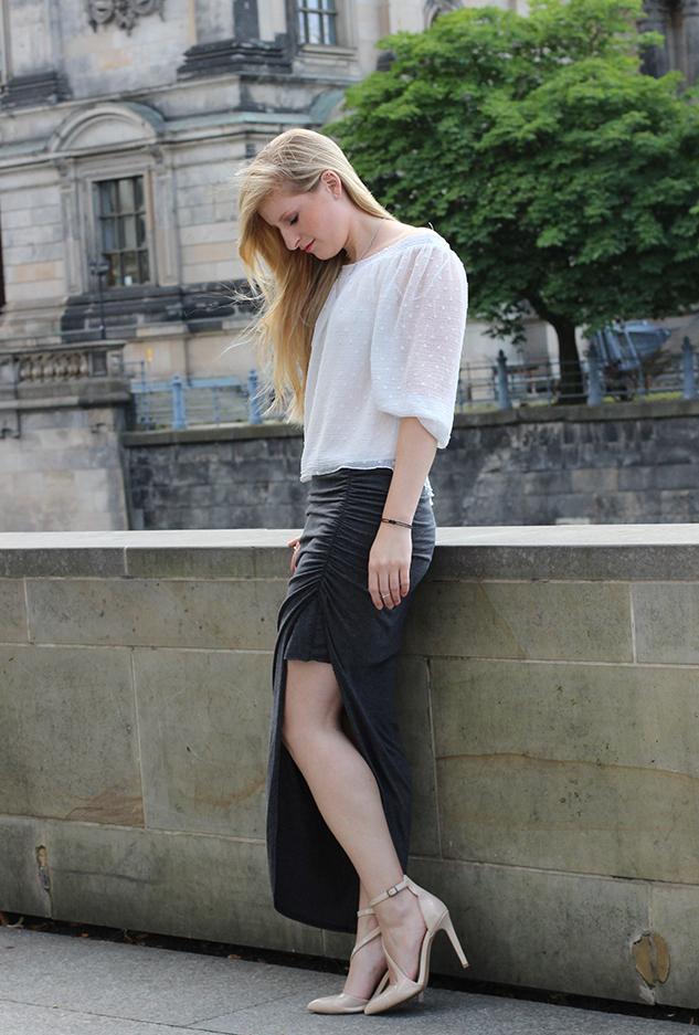 Outfit Fashion Week Berlin Streetstyle langer Rock Tunika Shirt 91