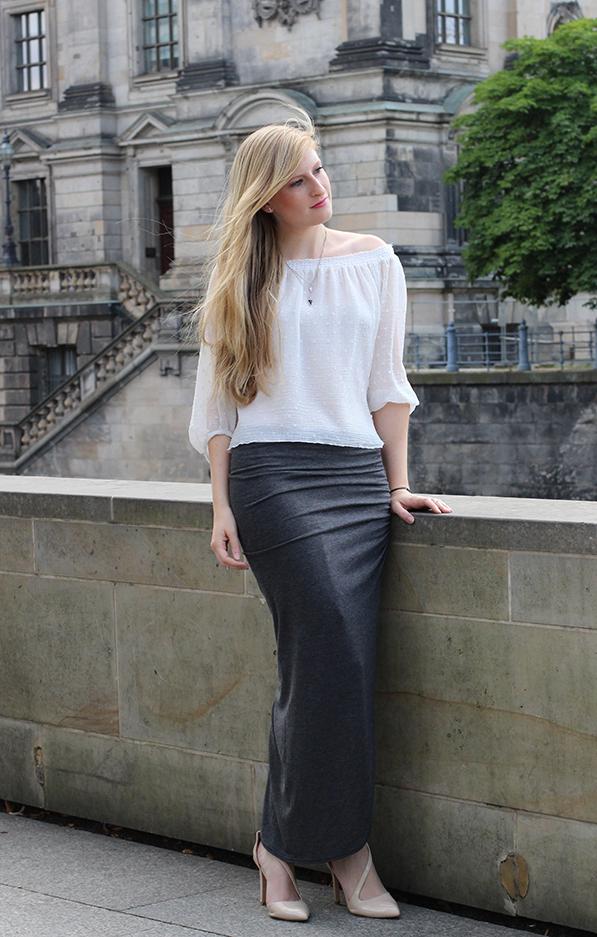 Outfit Fashion Week Berlin Streetstyle weißes Tunika Shirt 4