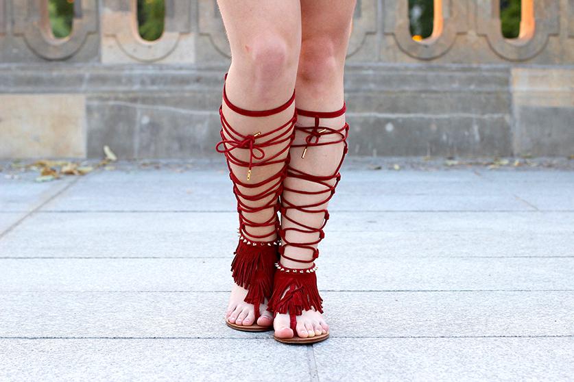 02 rote Gladiator Sandalen Stradivarius Modeblog Schuhe