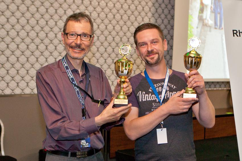 Unsere Mentoren Erich Bänziger und Michael Spengler bei der Siegerehrung.