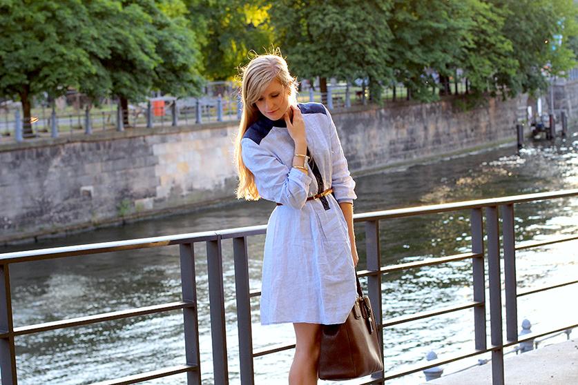 Fashion blog Köln Jeanskleid Spree Dom ootd