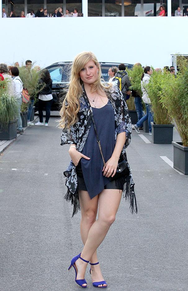 Outfit ootd Fashion week Berlin blaues Zara Top