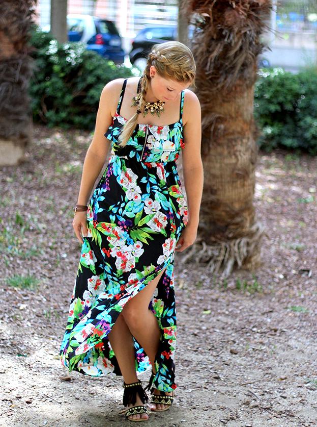 Sommerkleid Strandurlaub ootd Blog Printkleid