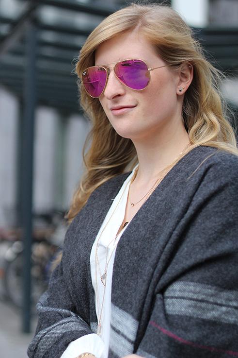 3 Ray Ban Sonnenbrille pink rosa Herbstlook Modeblog ootd