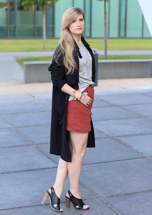 6 Mode Blog Köln ootd Jeansrock mit Knopfleiste richtig stylen