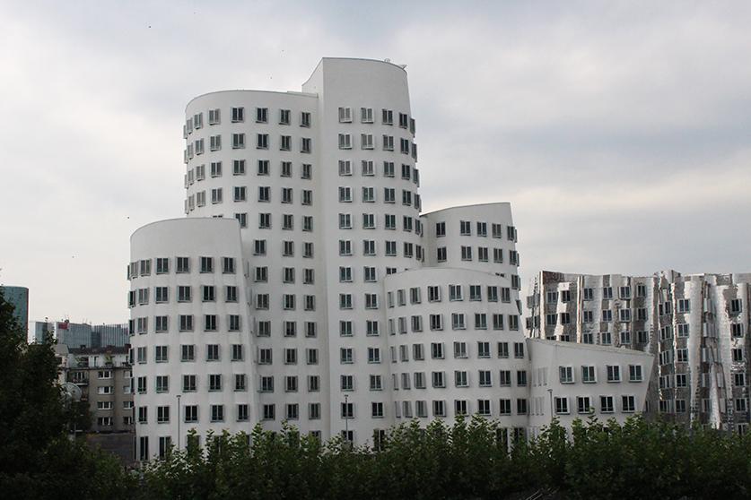 Reiseblog Hotelbericht Radisson Blu Hotel am Medienhafen in Düsseldorf View Architektur