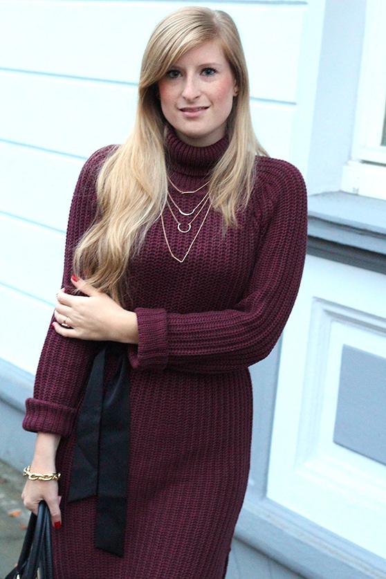 Herbst Outfit Wollkleid Asos mit schwarzer Michael Kors Tasche Modeblog Deutschland Köln 4