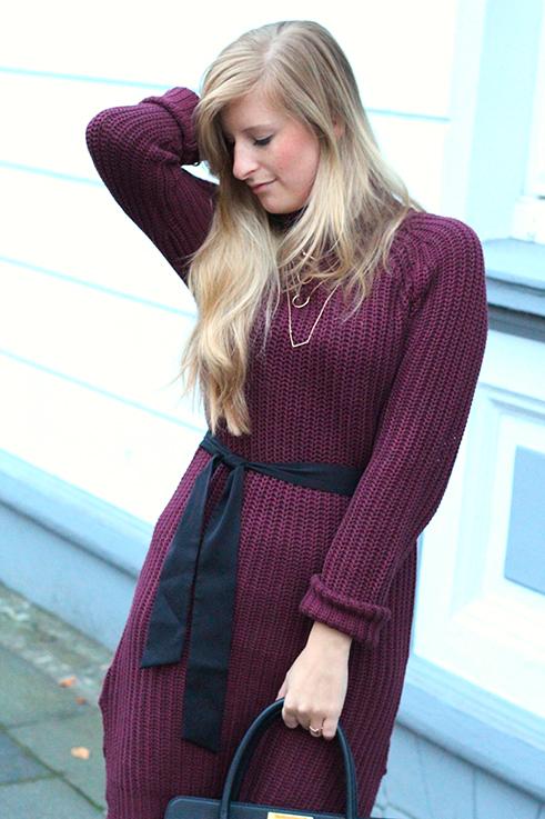 Herbst Outfit Wollkleid Asos mit schwarzer Michael Kors Tasche Modeblog Deutschland Köln 7