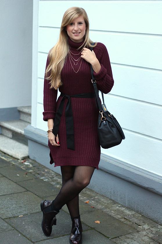 Herbst Outfit Wollkleid Asos mit schwarzer Michael Kors Tasche Modeblog Deutschland Köln 9
